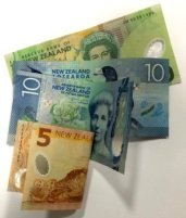 Varicose vein treatment cost represented by a few low value notes in New Zealand dollars