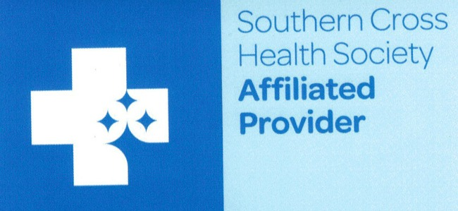 The logo for a Southern Cross affiliated provider and the scheme that simplifies your access and dealings with treatments, especially, in this case, for varicose veins.