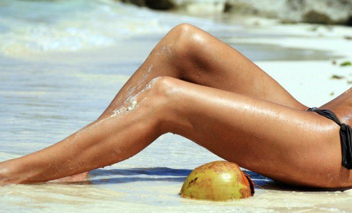 Vein remedy totally applied with the desire for sleek tanned legs reclining on the beach
